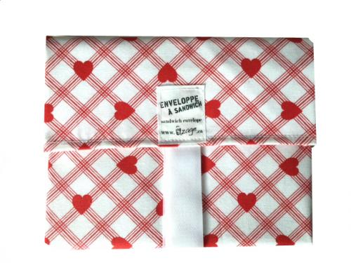 Hearts Sandwich Envelope