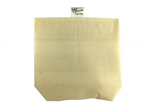 Unbleached Cotton Snacks Bag