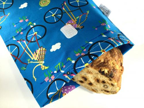 Greta on bike Bread Bag