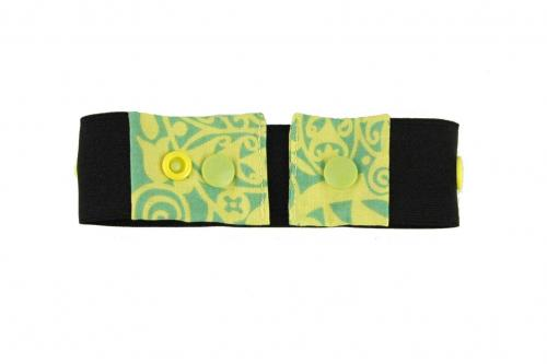Green Organic Wallpaper Snaps Belt